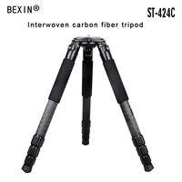 Профессиональный штатив из углеродного волокна 50 кг нагрузки Ёмкость прочный видеокамеры штатив 95 мм чаша фланец полые тяжелых для DSLR Каме