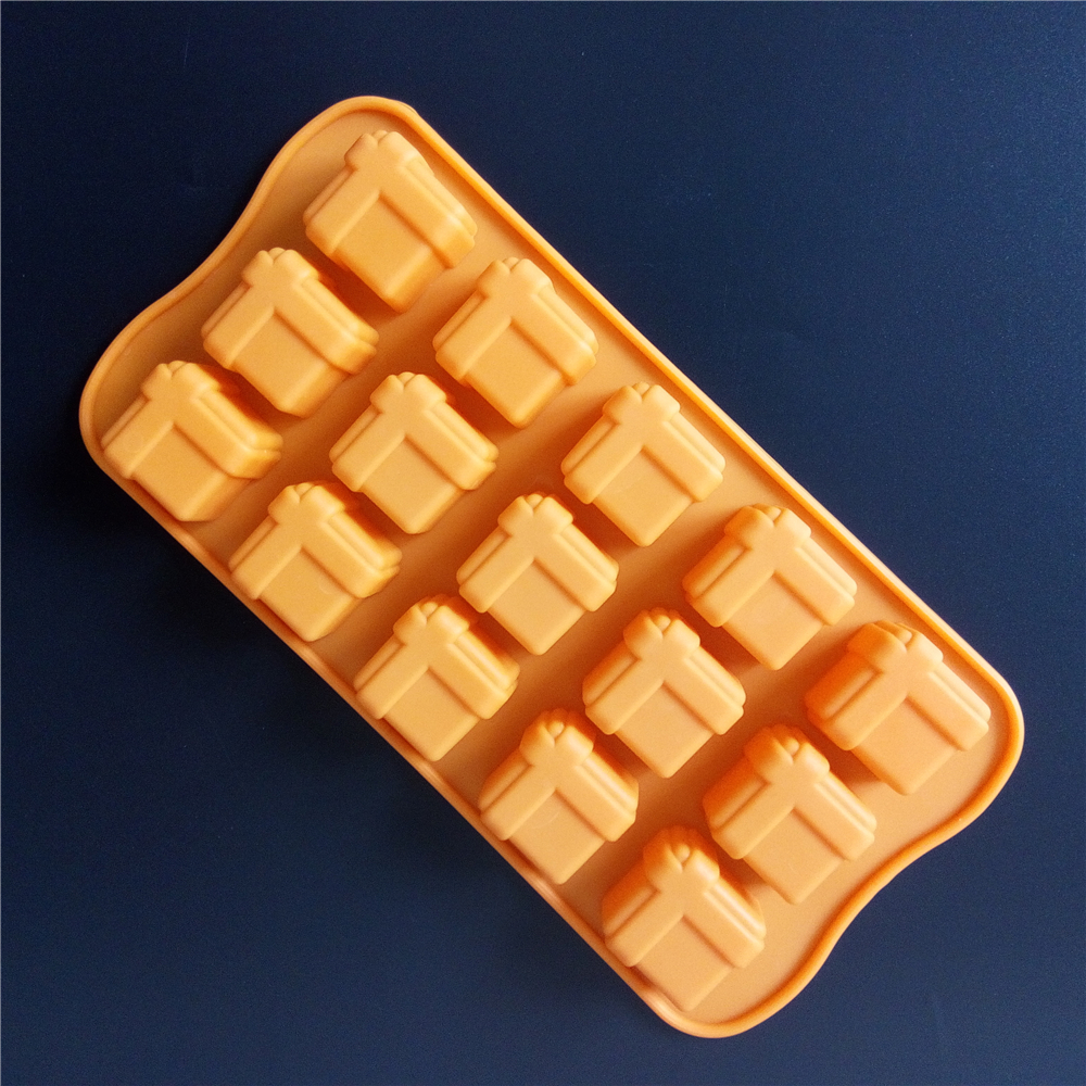 Gift Box Shaped Baking Pastry Tools Silicone Chocolate Mold Kitchen Bakeware Chocolate Mould DIY Silicone Mold For Chocolate