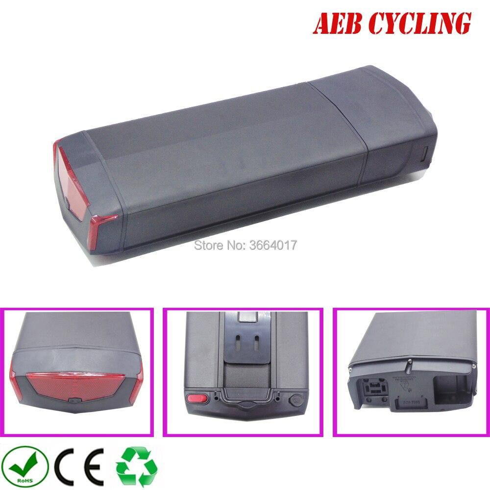 O envio gratuito de bateria Ebike alta potência 48 V 12.8Ah RB-3 rack traseiro bateria Li-ion bicicleta elétrica para bicicleta da cidade com carregador