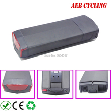 Free shipping Ebike battery pack high power 48V 12.8Ah RB-3 rear rack Li-ion electric bicycle battery for city bike with charger все цены