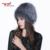 MH invierno de las mujeres de piel de zorro auténtico sombrero de piel sombreros de punto gorros de piel de zorro de plata femenino ruso bomer caps W #13