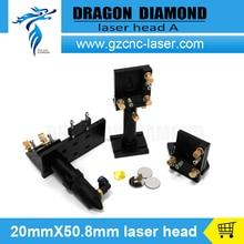 CO2 Лазерная Головка и Отражающее Зеркало 25 мм и Фокус Фокусным 20 мм Интегративной Крепления Набор для Лазерной Гравировки и Резки