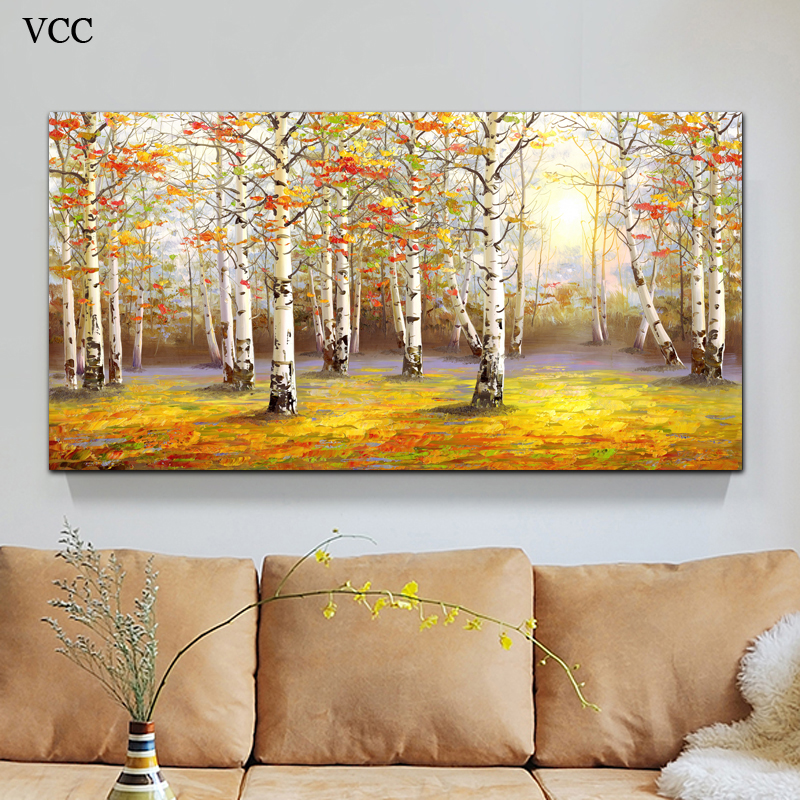 VCC Trees Wall Art Canvas Painting Picture Home Decoration,Paintings ...