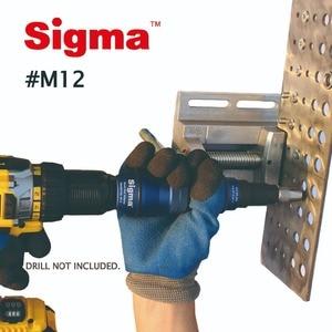 Image 4 - Sigma #M12 HEAVY DUTY Threaded Rivet Nut Drill Adapter Cordless or Electric power tool accessory alternative air rivet nut gun