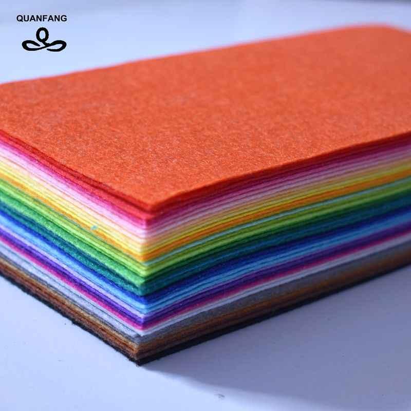 QUANFANG 40 adet/grup 1mm dokunmamış kumaş keçe Kalınlığı Polyester Bez Ev Dekorasyon Paketi Dikiş Bebekler El Sanatları