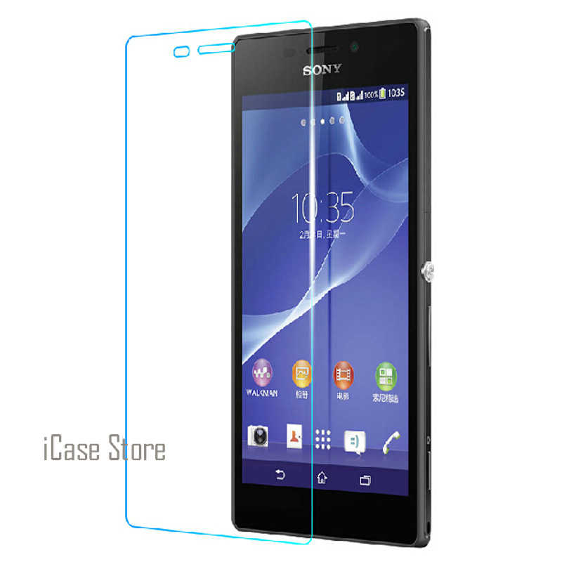 Ultra Thin 2.5D 0.26mm 9H Hardness Hard Phone Front Tempered Temper Glass Cristal For Sony Soni Xperia T3 T 3 D5103 D5106