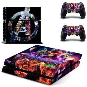 Image 5 - Виниловая наклейка на кожу, Мстители, эндшпиль, Железный человек, Человек паук, PS4, для консоли Playstation 4 и 2 контроллера PS4