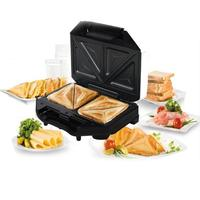 Multi functional Electric Triangle Sandwich Makers BBQ Grilling Plate Waffle Toaster Breakfast Machine Barbecue Oven EU Plug
