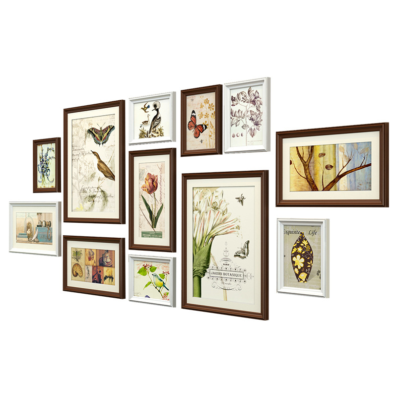 nature story design wall hanging photo frame 12 pcsset birthday party decor picture frames - Wall Hanging Photo Frames Designs