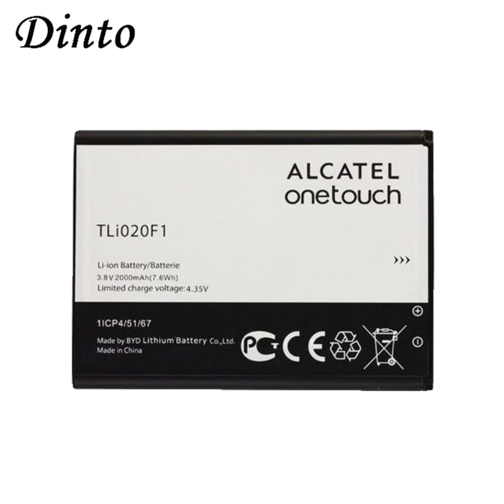 Dinto 1pc 2000mAh TLI020F1 TLI020F2 Mobile Phone Battery For Alcatel One Touch Pop C7 OT-7040 OT-7041 For TCL J720 J720T J726T