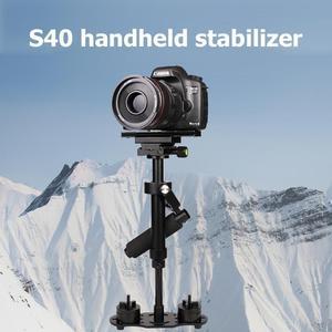 Image 2 - S40 אלומיניום סגסוגת כף יד DSLR מייצב נייד אנטי לנער טלפון מחזיק הר מצלמה מייצב תמונה DSLR אבזרים