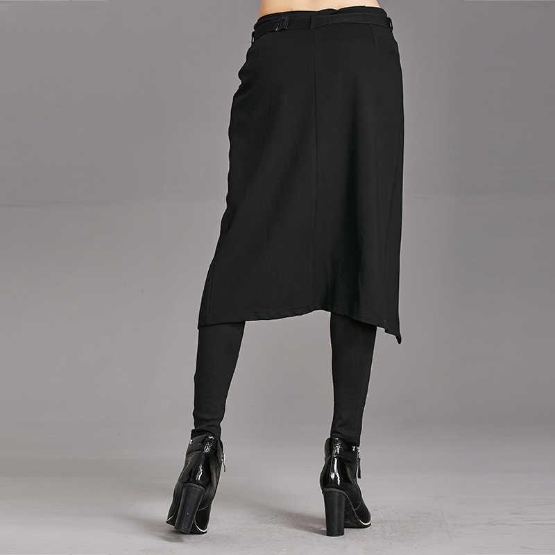 Mùa Xuân, Mùa Thu 2020 Quần Nữ Cao Co Giãn Giả Hai Mảnh Quần Giả Váy Nữ Nữ Quần Dài Thời Trang Quần Dạo Phố WP24
