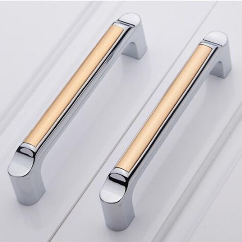 Modern Kitchen Cabinets Handles: ⃝128mm Silver White Kitchen Cabinet Handle Chrome Dresser