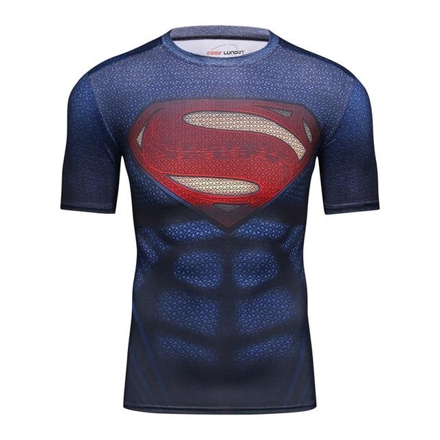 Marvel Superman T shirt Homens 3D Impressão T shirts De Algodão Lycra  Compressão Camisa Da Moda 005d79ee293a2