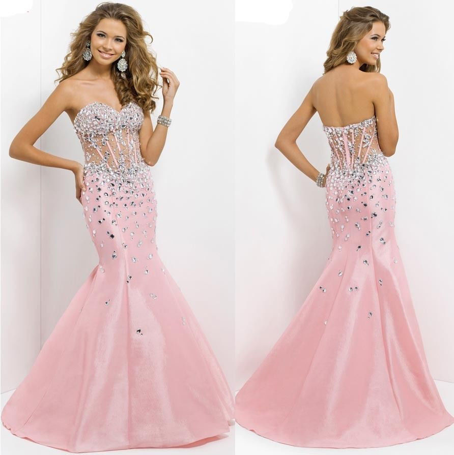 2014 Peach Sweetheart Sleeveless Off Shoulder Mermaid