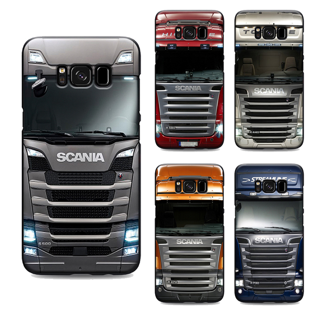 online store 37f62 0eb50 US $1.64 34% OFF|SCANIA Truck phone case for samsung galaxy s7 edge s6 s5  s8 s9 plus best soft Silicone black cover TPU Housing-in Half-wrapped Case  ...