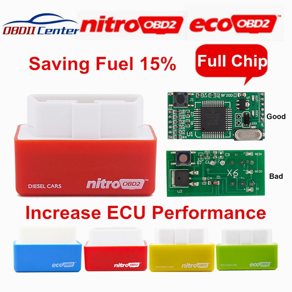2019 Original Full Chip Nitroobd2 Ecoobd2 Plug Drive Nitro OBD2 ECO OBD2 ECU Chip Tuning Box For Benzine Diesel Cars More Torque
