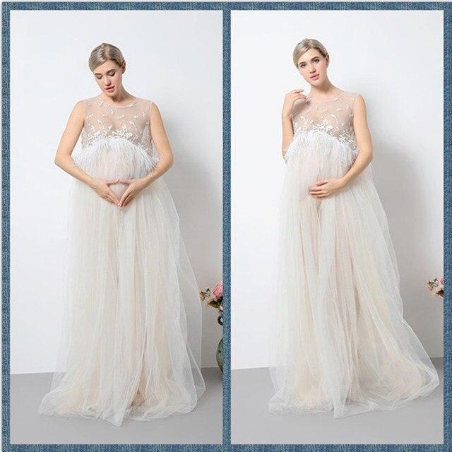 Sexy white maternity dress