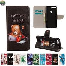 Wallet Case For Huawei Y6 Prime 2018 ATU-L31 AUM-L29 Phone Leather Flip Case Cover For Honor 7A Pro ATU L31 AUM L29 Magnetic недорого