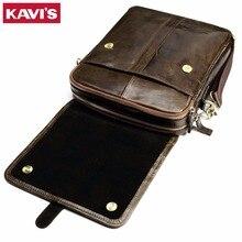100% Cowhide Genuine Leather Original Messenger Bag