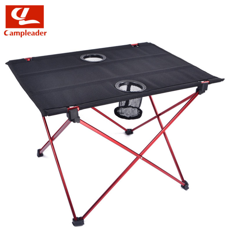 2016 New 0.7kg Outdoor Folding Table Ultra-light Aluminum Alloy Structure Portable Camping Table Furniture with Bottle placed