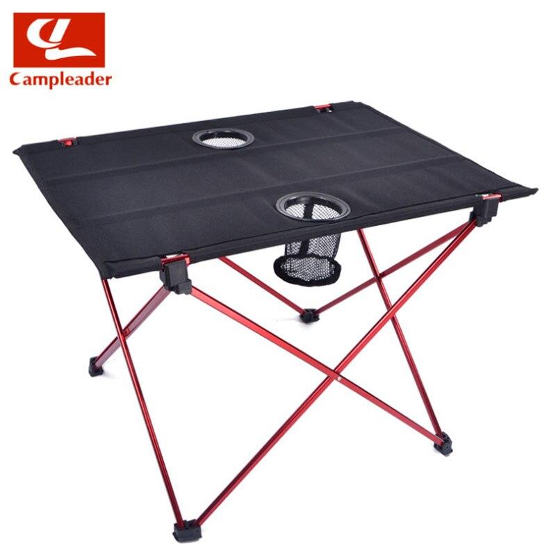 Pliable Table pliable Bureau Camping En Plein Air de Pique-Nique 6061 alliage d'aluminium Ultra-léger mobilier d'extérieur Table CL039