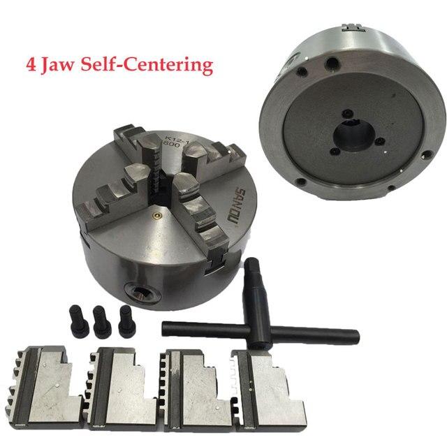 4Jaw Lathe Chuck Self-centering 80mm 100m 125mm 130mm 160mm 4 Jaw Metal Lathe Chuck CNC Metalworking