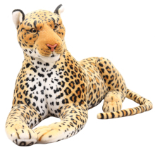 30cm high quality Simulation Leopard Panther plush toy simulation stuffed animal classic toys for children gift free shipping