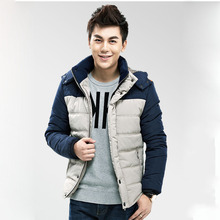 Clearanc Cheap Contrast Color Thickening Measures In Winter Cotton Padded Clothes Mens Winter Coats Man