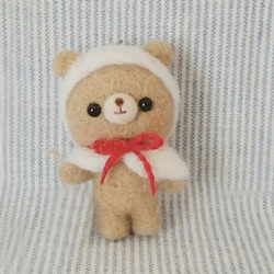Non Finished Felt Kit Cartoon Cute Gentle Brown Bear Wool Felting Toy Doll Wool Felt Poked Kitting DIY Package Non-Finished