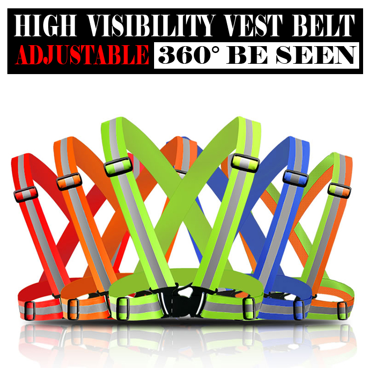 Reflective Safety Vest belt Strips for Construction Traffic Warehouse Security Reflective Strips  for outdoor working  running