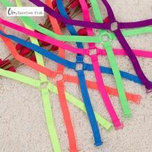 1cm Neon candy solid color elastic shoulder bra strap back cross slip resistant underwear bra with