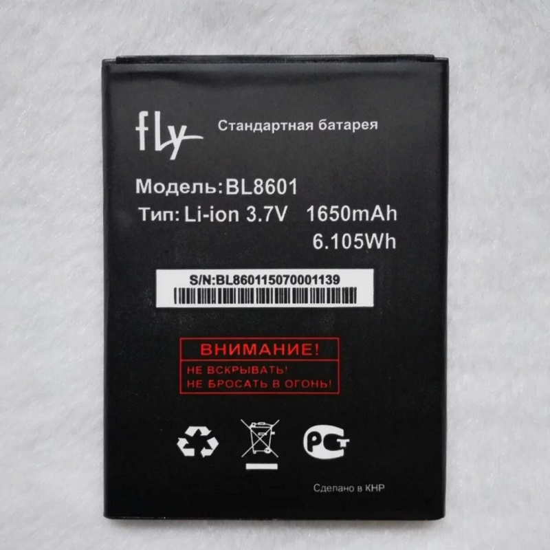 Fly BL8601 1650mAh Mobile Replacement Li-ion Polymer Battery Bateria for Fly IQ4505 Quad ERA Life 7 BL8601 Batterie Accumulator