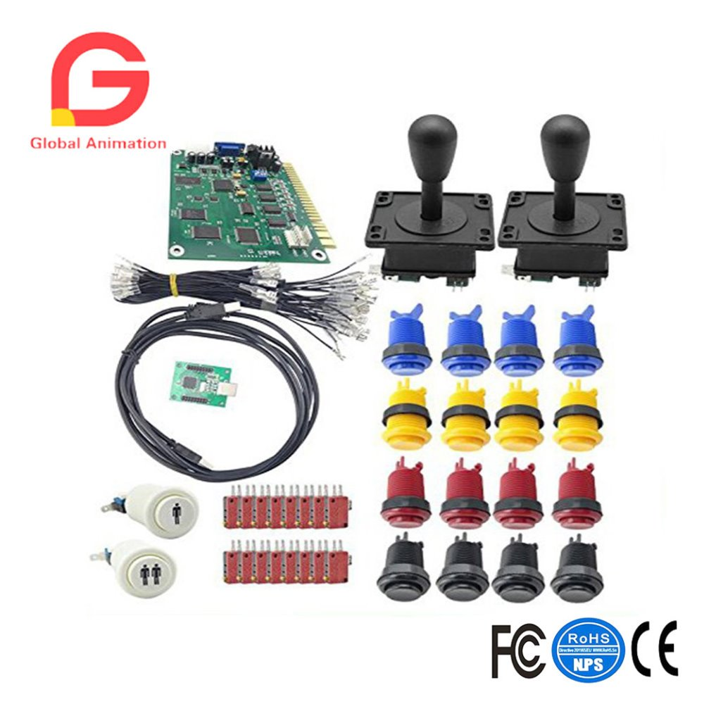 Arcade Bundles Part Kit 60 In 1 Jamma Games Board With Arcade Joystick Micro Switch Buttons 2 Players USB Control Board