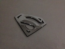 3D  Glossy black emblem Auto logo Motorcycle accessories Funny car stickers Superman badge ABS Universal Car styling