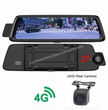 4G ADAS Wifi Car DVR 10″ Full Touch Screen Remote Monitor AHD Rear view mirror with Dual len camera Android 5.1 GPS Recorder