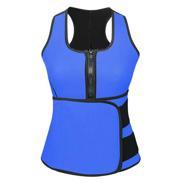 Adjustable Body Shaper Slimming Waist Support Brace Trainer Sauna Suit Top Vest Trimmer Trainer Belt Fitness Shapewear S-4XL 4