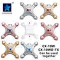 Cheerson cx-10 rc mini quadcopter drone cx-10 repuestos cuerpo cáscara de la cubierta superior e inferior para cx-10wd cx-10w cx-10c