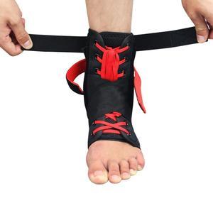 Image 5 - Kuangmi 1 adet Bilek Desteği Brace Spor Ayak Sabitleyici Ayarlanabilir Ayak Bileği SockStraps Koruyucu Futbol Koruma Ayak Bileği Burkulması Pedleri