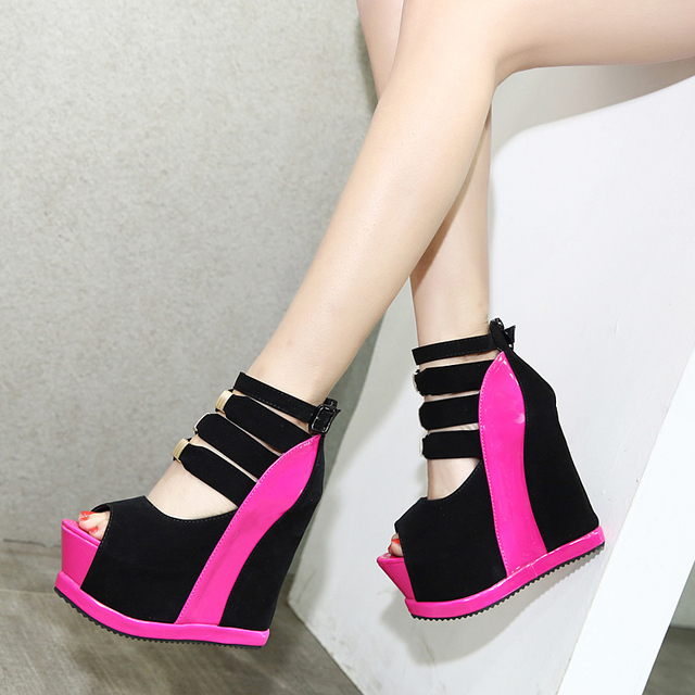 3189af2a02e Wedges sandal platform sepatu wanita tebal tinggi heels gladiator sandal  platform sandal wedges sepatu wanita heels