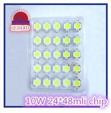 free shipping 200PCS LED COB 10W chip Integrated High power 10w LED Beads White warm white cold 900mA 9-12V 900LM 24*48mil(China)