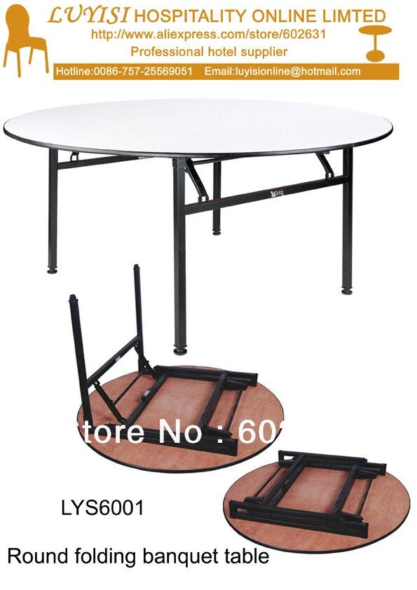Mobilya'ten Restoran Masaları'de 4 ayak katlanır yuvarlak banket masa  Kontrplak 18mm PVC (Beyaz) top  çelik katlanır bacak  2 adet/karton  hızlı teslimat title=