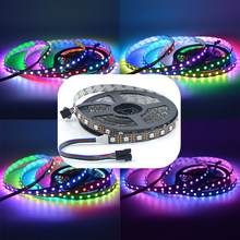 Apa102 sk9822 smart led pixel strip 30/60/144 leds/pixels/m apa102c 5050 smd rgb led tira dados e relógio separadamente 1 m/5 m