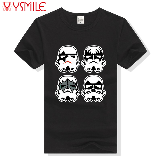 059d64e98 Mens T-Shirt With Star Wars Stormtrooper Funny Parody Star Wars Kiss Rock  Band t shirt Summer Cotton Tee black White Size S-2XL