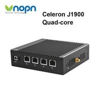 Fanless Pfsense Mini PC Celeron J1900 Quad core 4 Gigabit LAN RJ45 Firewall Router Network Security Windows 10 HTPC Computer
