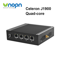 J1900 Quad core Fanless 4 Gigabit LAN RJ45 Firewall Router Celeron Mini PC Pfsense Windows Linux WOL PXE Network Security 2*USB