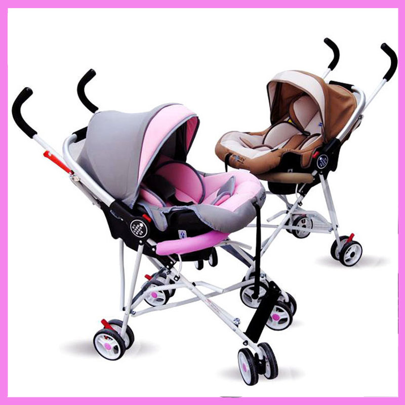 Portable Newborn Infant Baby Sleeping Basket Cradle 2 In 1 Car Safety Seat Frame Stoller Folding Travel System Pram Pushchair hot sell pouch baby carrier newborn car seat infant train newborn sleeping basket baby cradle