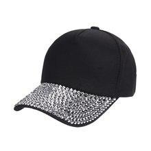 2018 Men Women handmade Rhinestone beads Hats Solid Baseball Cap luxury hat  woman girl beauty casual caps wholesale f45f6f81656a