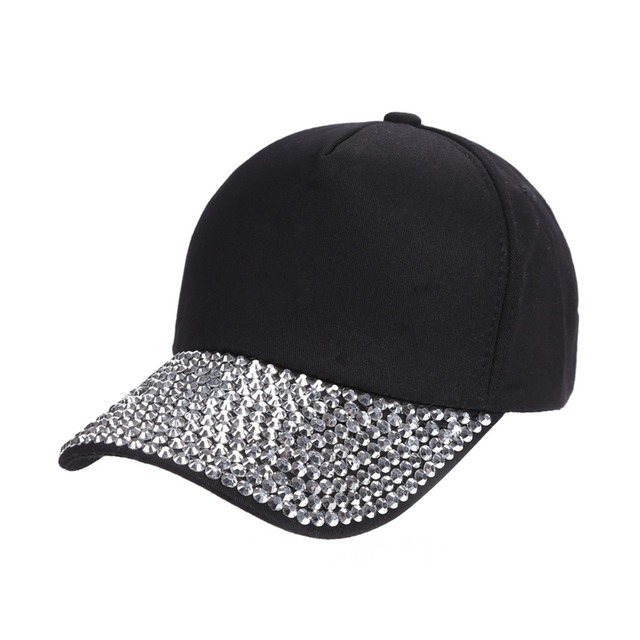 2110e0a08c9d 2018 Men Women handmade Rhinestone beads Hats Solid Baseball Cap luxury hat  woman girl beauty casual caps wholesale