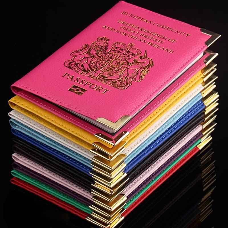 Путешествия кошелек для паспорта держатель Европейское сообщество Соединенного Королевства Британии PU искусственная кожа протектор паспорт сумки чехол